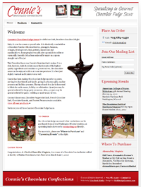 Connie's Chocolate Confections - Specializing in Gourmet Chocolate Fudge Sauce